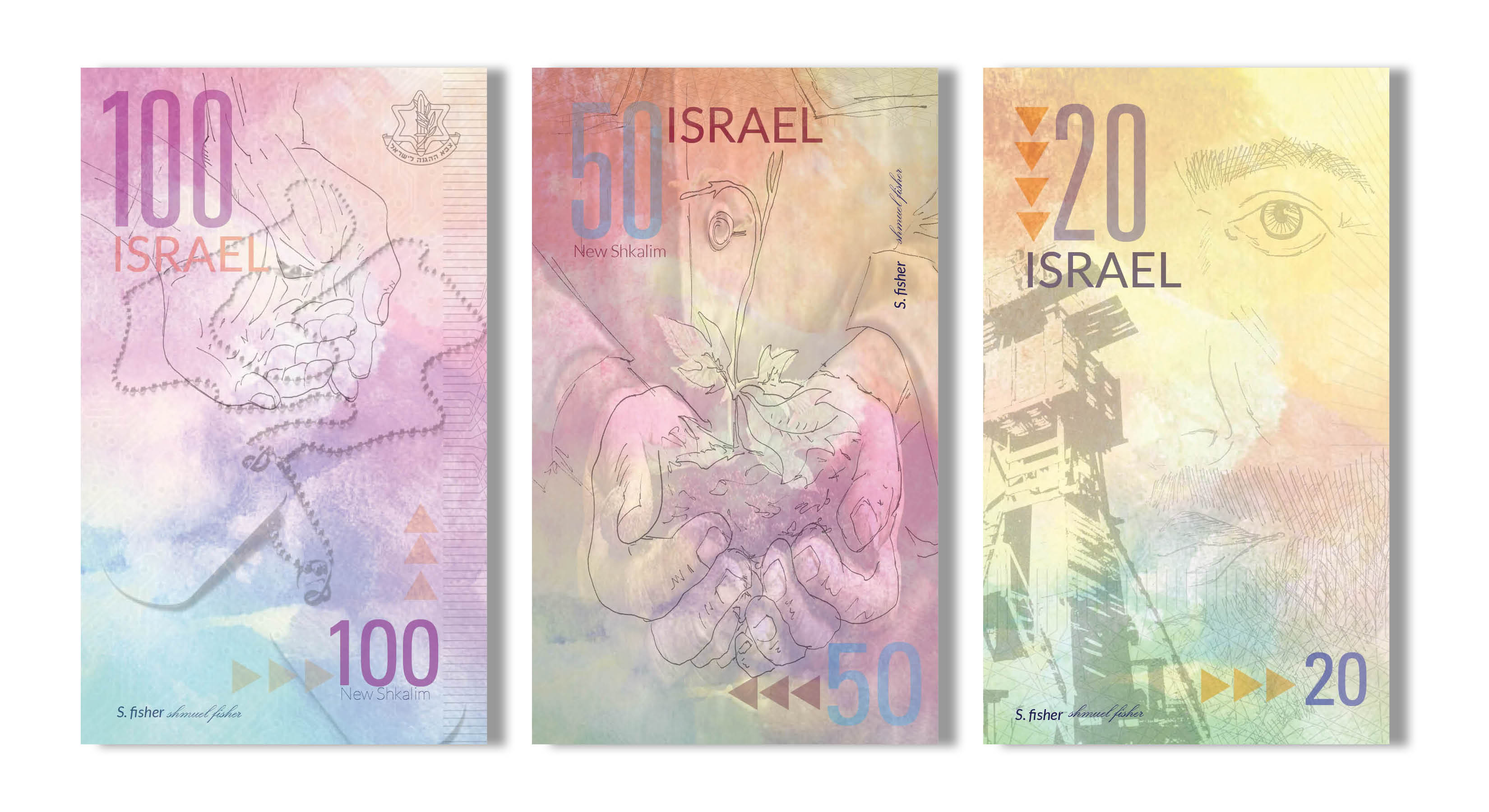 sharon sarfati design currency design